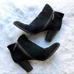 Cole Haan Shoes - Cole Haan Hayes Black Suede Bootie Size 8.5